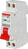 Автоматичний вимикач e.mcb.pro.60.1 N. С16.thin 1р+N 16А C 45кА тонкийС 45кА тонкий, фото 1