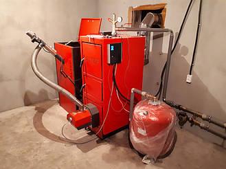 Твердотопливная котельная 21 кВт.