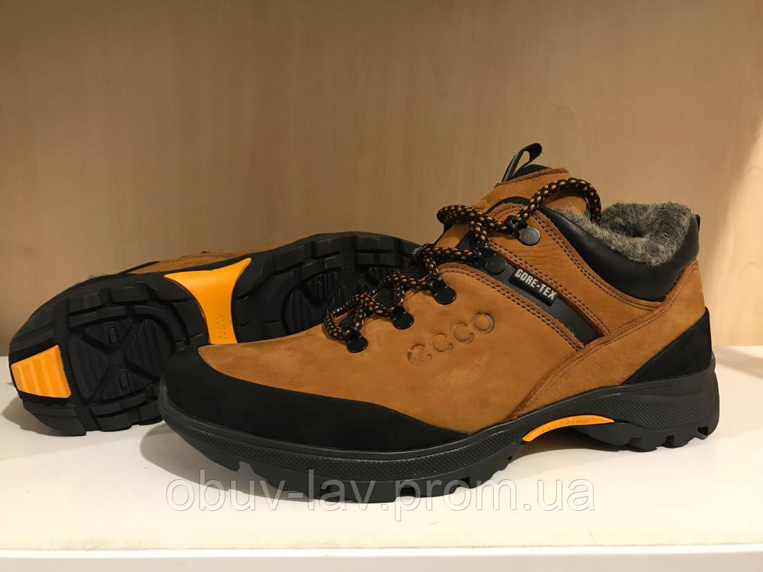 147f7bec3 Мужские кроссовки Ecco рыжие - Интернет-магазин спортивной обуви