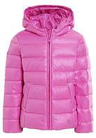 Зимняя куртка пуховик Benetton для девочки, теплая курточка, розовая куртка