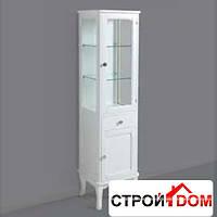 Шкаф с витриной и ящиком Simas ARMV2 цвет белый