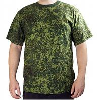 Мужская футболка камуфляж пиксель милитари хаки