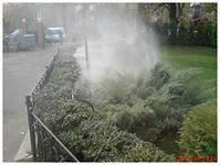 Охлаждение открытого пространства c помощью тумана