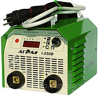 Сварочный инвертор Атом I-250D с комплектом кабелей КГ-16 2+3 и зажимами Abicor Binzel