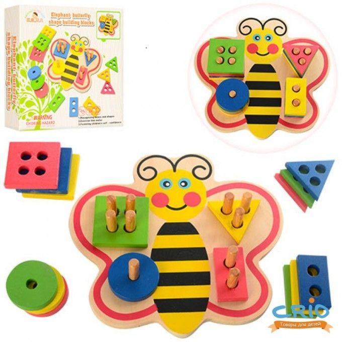 Деревянная игрушка Геометрика WOODY MD 0964
