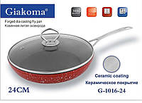 Кованная  литая сковорода Forget dia-casting fry pan