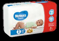 Подгузники HUGGIES Classic 2 (3-6кг) 37 шт