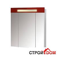 Зеркальный шкафчик с подсветкой Мойдодыр Париж ЗШ-80 (красный)