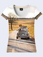 Женсая футболка Путешествие на авто