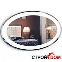 Овальное (круглое) зеркало с LED подсветкой Liberta Lacio 900x600