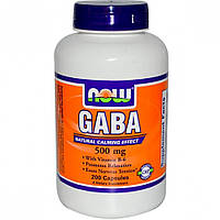 Активный стимулятор гормона роста NOW GABA 500 мг (200 капс)