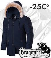 Braggart 'Black Diamond'. Куртка зимняя 9103 темно-синяя, фото 1