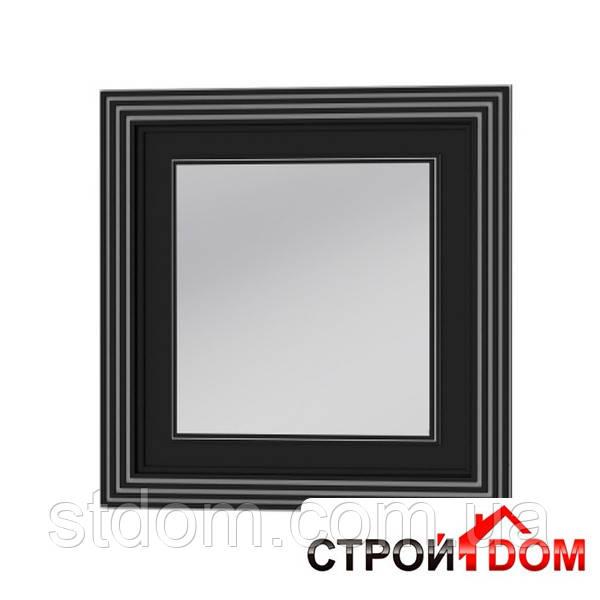 Зеркало Botticelli Treviso ТM -80 чёрное, патина серебро