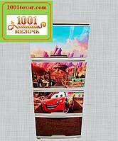 """Комод пластиковый Алеана, с рисунком """"Тачки молния Маквин"""", на 4 ящика, под заказ"""