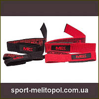MEX Nutrition Wrist Wraps Red Black