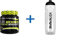 Набор: креатин моногидрат BioTech 100% 500g + спортивная бутылка BioTech 750 ml белая