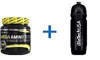 Набор: Аминокислоты Mega Amino 3200 BioTech 300 tab. + Спортивная бутылка BioTech 750 ml черная