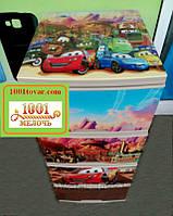 """Комод пластиковый Алеана, с рисунком """"Тачки молния Маквин"""" + на крышке, 4 ящика, под заказ"""