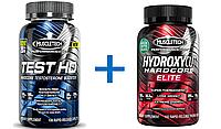 Test HD MuscleTech 90 cap (бустер тестестерона) + MuscleTech Hydroxycut Hardcore ELITE (Жиросжигатель)100 caps