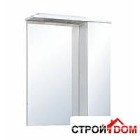 Зеркало для ванной комнаты Мойдодыр Тетрис 70x70 со шкафчиком справа