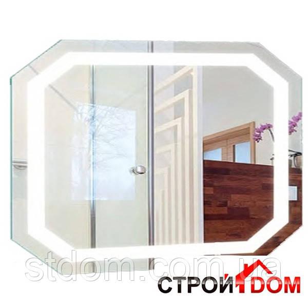 Восьмиугольное зеркало с LED подсветкой Liberta Donato 1000x800