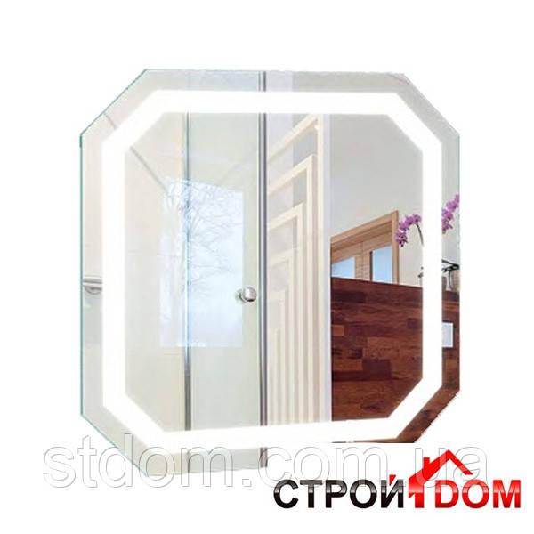 Восьмиугольное зеркало с LED подсветкой Liberta Donato 700x700