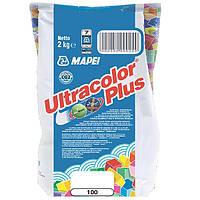 Затирка Mapei Ultracolor Plus 100 белая 2 кг N60307213