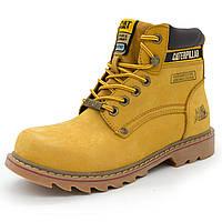 Женские и мужские желтые ботинки CAT (Катерпиллер) Топ качество! р.(38, 40, 41, 42, 43, 44)