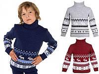 """Детский теплый шерстяной свитер """"Олени"""", для мальчиков, оптом"""