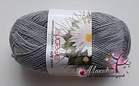 Белорусская пряжа Ареола Акрил №12, серый