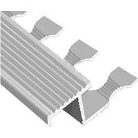 Профиль для плитки алюминиевый ТІС АПZR 2.7 м серебро N60604095