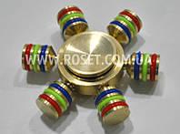 Разборной спиннер цельнометаллический - Fidget Spinner Rainbow 6, фото 1