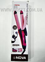 Плойка-утюжок для волос 2в1 - Nova NHC-2009, фото 1
