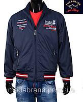Куртка-ветровка  мужская Paul Shark-100 темносиняя