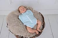"""Бодик-пеленка """"Мятный меланж"""" на молнии для ребенка с 0 до 3 месяцев (евро-пеленка-бодик, размер 62) ТМ MagBaby 100506"""