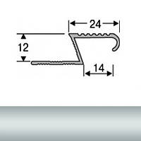Профиль для плитки алюминиевый ТІС АЛПZ 2.7 м серебро N60303034