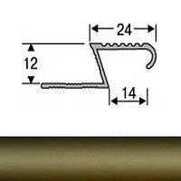 Профиль для плитки алюминиевый ТІС АЛПZ 2.7 м бронза N60303155
