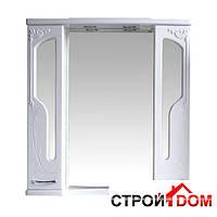 Шкаф зеркальный Атолл (Ольвия) Барселона 195 (белый глянец)