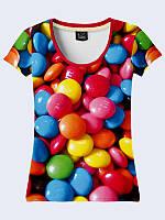 Женсая футболка Сладости M&M's