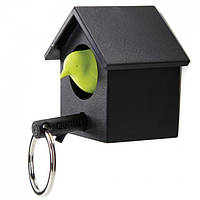 Ключница настенная и брелок для ключей Cuckoo Qualy, черная