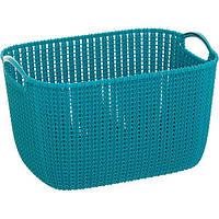 Корзина для вещей Curver Knit L прямоугольная 40x30x23 см темно-синяя N40520815