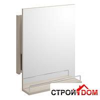 Зеркало с полкой Cersanit Smart 50 светлый ясень