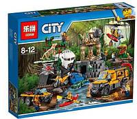 """Конструктор Lepin 02061 """"База исследователей джунглей"""" (аналог Lego City 60161), 870 дет"""