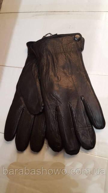 Мужские перчатки из натуральной кожи оленя фирмы Fioreyto подкладка из натурального меха овчины