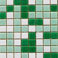 Мозаика Guangzhou rose стеклянная микс 327х327 мм зеленая N60228355