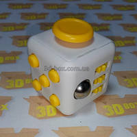 Fidget Cube Белый с желтыми кнопками | 3D-Box