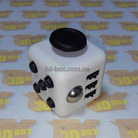 Fidget Cube Белый с черными кнопками   3D-Box