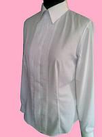 Женская блузка с бизами белого цвета, фото 1