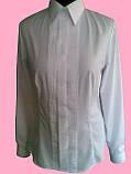 Женская блузка с бизами белого цвета, фото 2