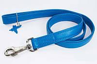 Поводок COLLAR GLAMOUR без украшений, ширина 12мм, длина 122см, 33722 голубой